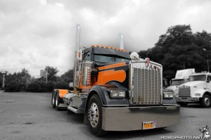 Orange Kenworth